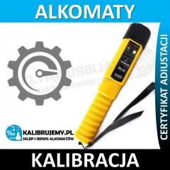 Kalibracja alkomatu AlcoBlow z certyfikatem kalibracji