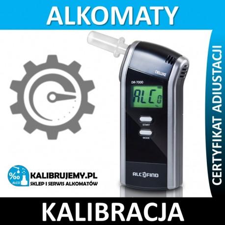 Kalibracja alkomatu DA 7000 z certyfikatem kalibracji w [24H]