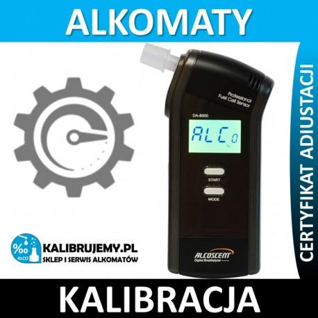Kalibracja Alkomatu DA-8000 Świadectwo Kalibracji w [24H]