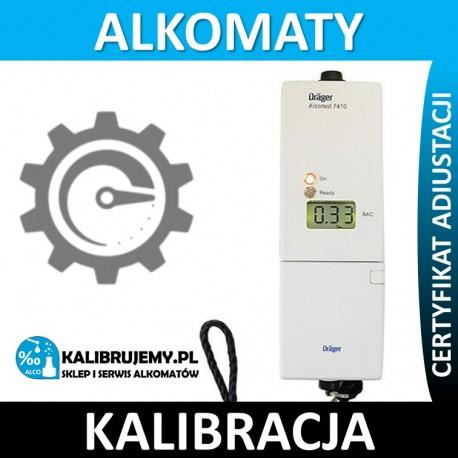 Kalibracja Alkomatu 7410 firmy Drager z certyfikatem kalibracji w [24H]