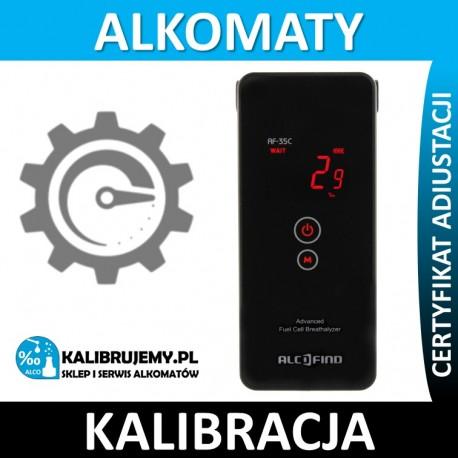 Kalibracja Alkomatu AF 35C w [24H]