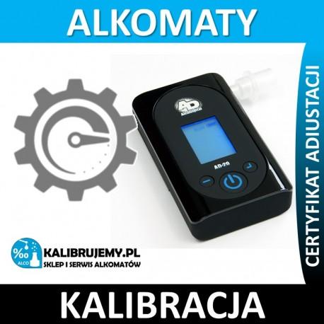 Kalibracja Alkomatu AD-20 z certyfikatem kalibracji w [24H]
