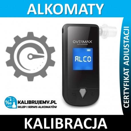 Kalibracja alkomatu OVERMAX OV-AD-03 plus świadectwo kalibracji w [24H]