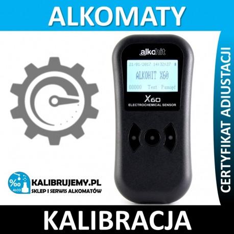 ALKOHIT X60 Kalibracja Serwis Naprawa