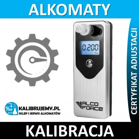Kalibracja Alkomatu AlcoForce E700 z certyfikatem kalibracji w [24H]