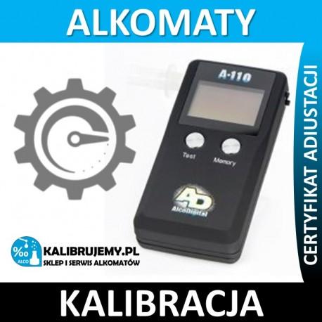 Kalibracja alkomatu A-110 z certyfikatem kalibracji w [24H]