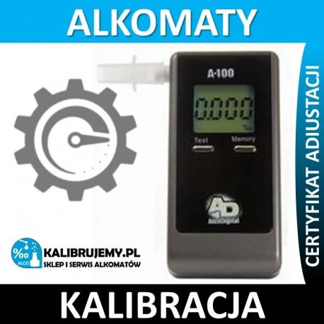 Kalibracja alkomatu A-100 z certyfikatem kalibracji w [24H]