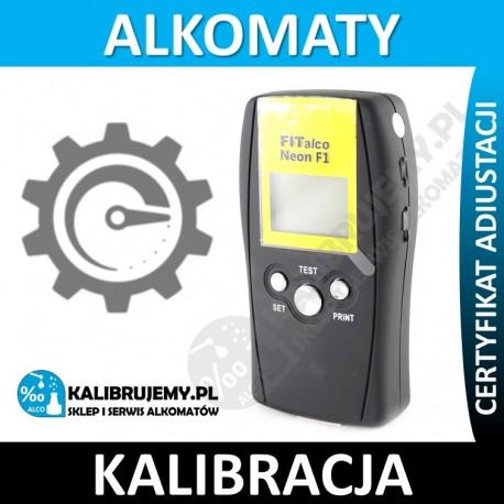 Kalibracja alkomatu FITALCO NEON z certyfikatem kalibracji w [24H]
