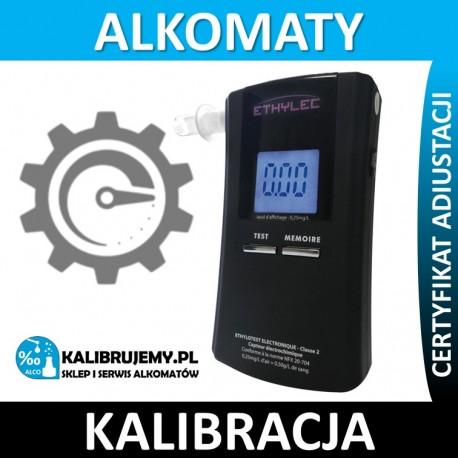 Kalibracja alkomatu ETHYLEC z certyfikatem kalibracji w [24H]