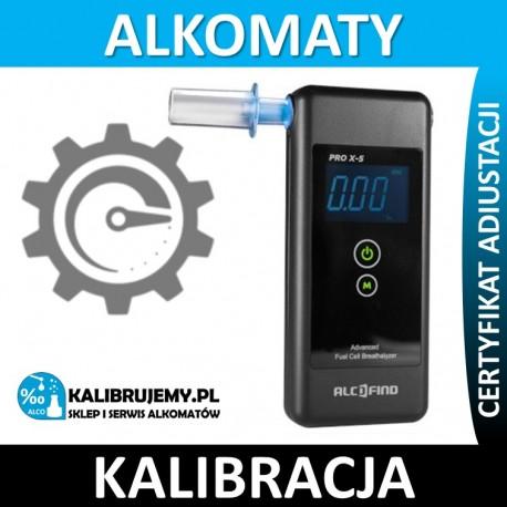 Kalibracja Alkomatu AlcoFind PRO X-5 (prox5) w [24H]