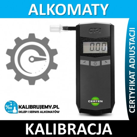 Kalibracja alkomatu CERTEN CT-1 [24H] + certyfikat