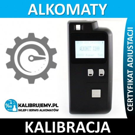 Adiustacja alkomatu ALKOHIT X100 + świadectwo kalibracji
