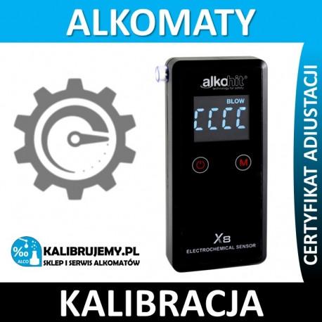 Kalibracja Alkomatu Alkohit X3 z certyfikatem kalibracji
