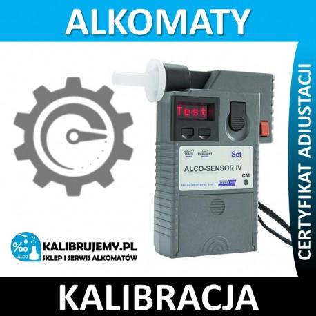 Kalibracja + Wzorcowanie alkomatu alco-sensor IV