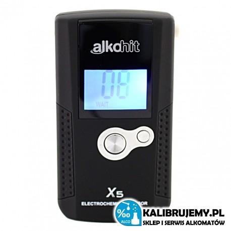 Alkohit X5 z sensorem elektrochemicznym od kalibrujemy.pl