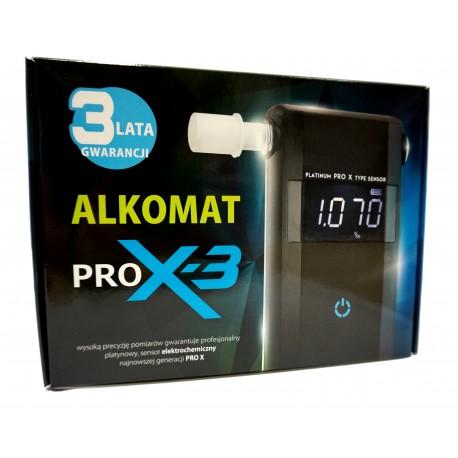 Alkomat Pro X-3 + 3 lat gwarancji, 1 rok darmowej kalibracji