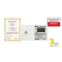 Czujnik czadu ''El Home'' CD-20EU wyświetlacz LCD, 3 lata gwarancji, Wyprodukowany w Pollsce