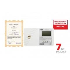Czujnik czadu Eura CD-01EU wyświetlacz LCD, 7 lata gwarancji, Wyprodukowany w Polsce