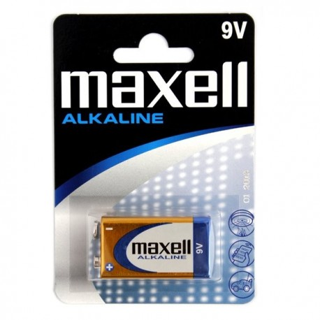Baterie Alkaliczne MAXELL do alkomatu 9V 6LR61