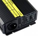 Przetwornica Napięcia 12V 230V Prądu z ładowaniem UPS 600Watt (1200Watt) DC:12V USB:5V