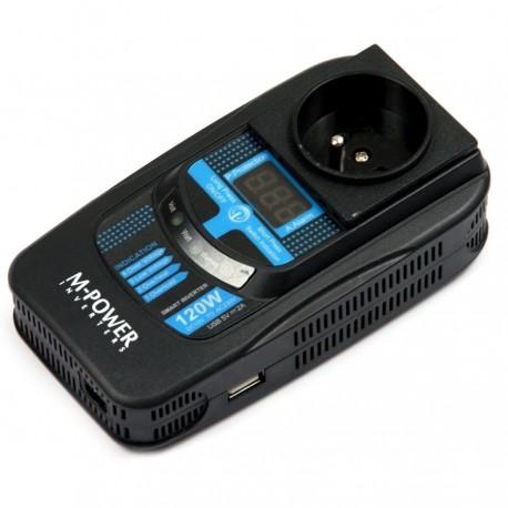 Przetwornica Napięcia 12V 230V Prądu 120Watt (160Watt) USB:5V