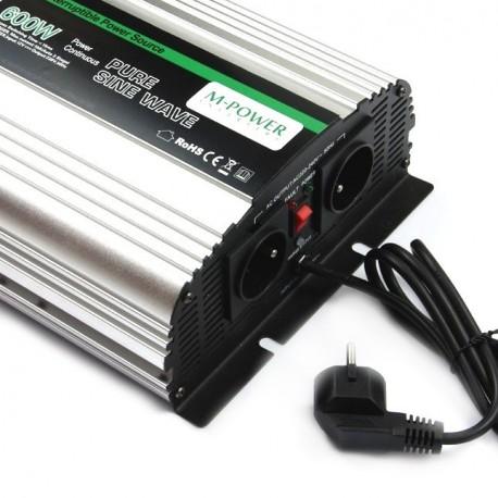 Przetwornica Napięcia 12V 230V Prądu z ładowaniem UPS 600Watt (1200Watt) DC:12V